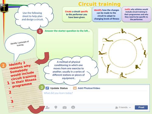 KS3/4 Circuit Training Learning Mat
