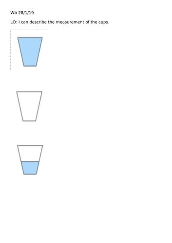 Measurement of liquid Year 1