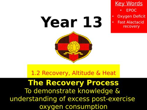 OCR A LEVEL PE- EPOC & Recovery