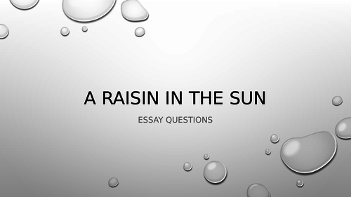 Middle School English Resources Research And Essay Skills Th Th  A Raisin In The Sun Essay Notes On Character Comparison