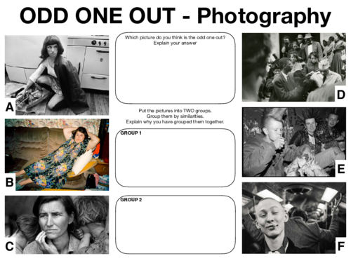 Photography Lesson Starters - Higher Order Thinking Skills