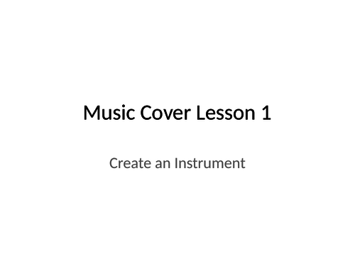 One-off Music cover lessons