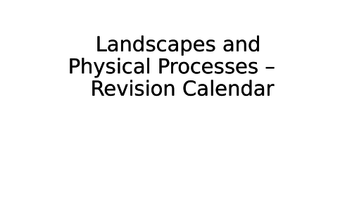 Eduqas GCSE Revision - Landscapes and Physical Processes