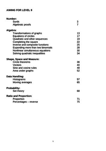 GCSE maths level 9 revision booklet