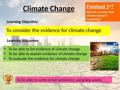 AQA Climate change GCSE set of lessons