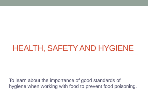 Food Safety and Hygiene within hospitality