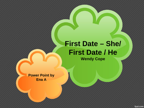 Edexcel GCSE Relationship Poetry First Date she first date he - annotated