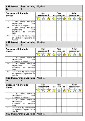 Year 6 White Rose Algebra Spring block 3