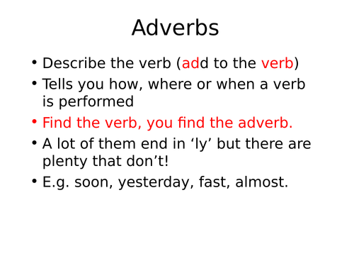 Word Class Revision