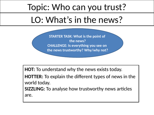 What's in the news? - Full Lesson  - Ethics/RE/RS