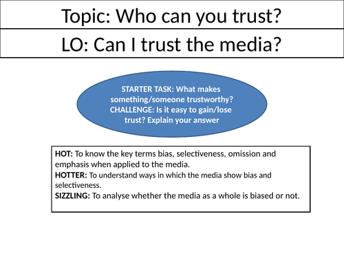 Can I trust the media? - Full Lesson - Ethics/RE/RS