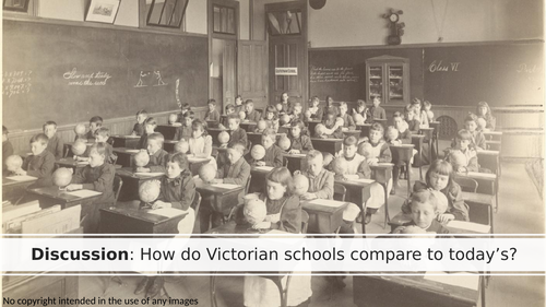 Victorian schools then and now: discussion and writing prompt