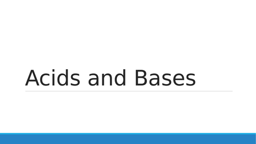 Acids and bases powerpoint presentation