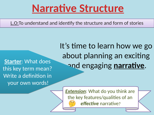 Introductory Lesson on Narrative Structure