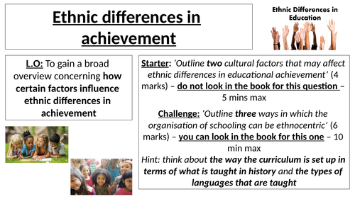 AQA A Level - Sociology - Ethnicity and Education 2