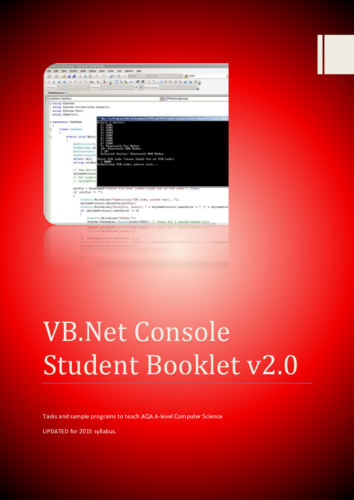 AQA A-Level VB Console Student Booklet