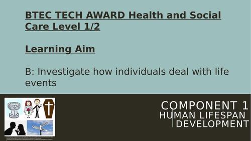 BTEC Health & Social Care Tech Award Component 1 Learning Aim B