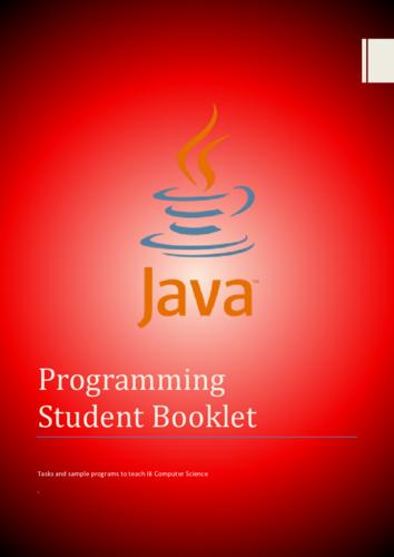 A-Level Java Student Workbook