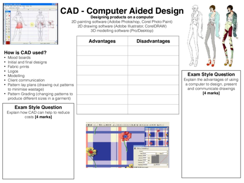 GCSE Textiles Technology Revision Worksheets