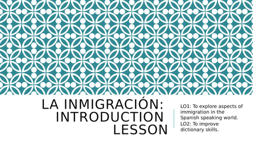 La Inmigracion Spanish A level Revision/Introduction lesson