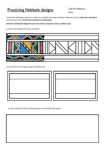 "African patterns to colour"" in Usborne Quicklinks 