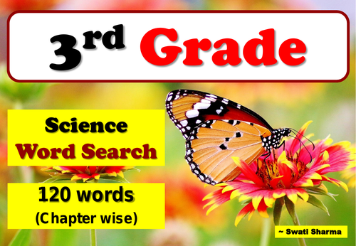 3rd Grade Science Words, Word Search Worksheets