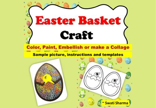 Easter Basket Template Craft