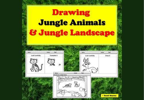 Drawing Jungle Animals and Jungle Landscape