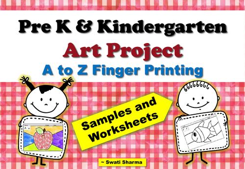 Pre-K and Kindergarten ABC Art Project