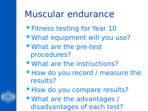 BTEC Level 2 Unit 1- Fitness for Sport and Exercise Part C
