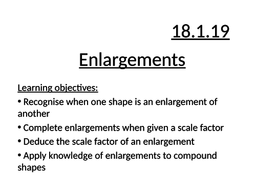 mastery-style enlargements SF lesson