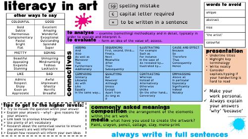 Literacy in Art