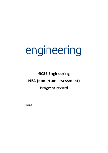 GCSE Engineering pupil progress record booklet (2017 spec)