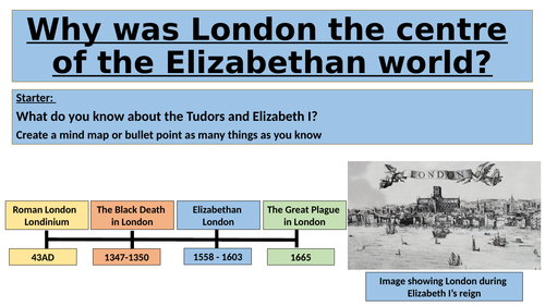 Why was London the centre of the Elizabethan world?