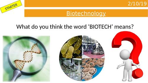 KS3 Biotechnology Lesson