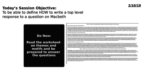 AQA Lit. Macbeth Response - How to get the grade 8 or 9
