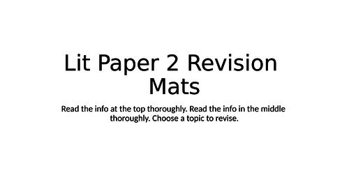 AQA Literature Paper 2 revision mats