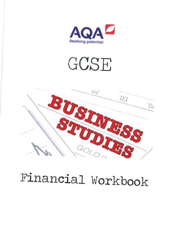 AQA GCSE Business Studies Finance