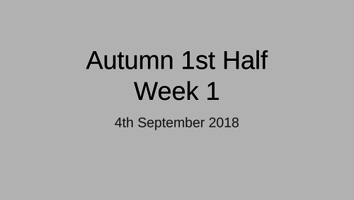 Year 6 - Early Morning Work (Spelling, Grammar, Maths) - Autumn 1st Half