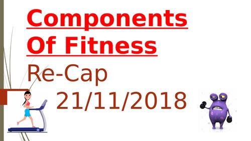 Components of fitness RECAP