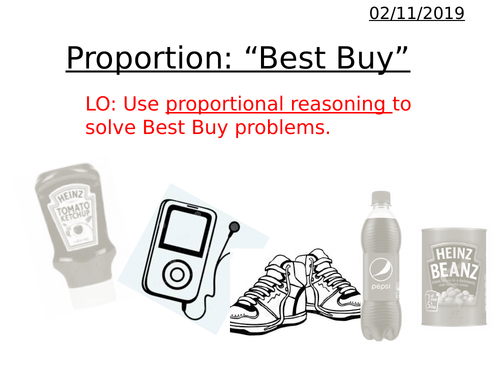 Proportion - Best Buys