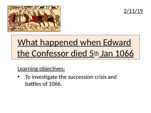 The death of Edward the Confessor and the claimants to the throne