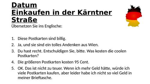 AQA GCSE German Stimmt! (Higher) - Kapitel 5 - Einkaufen in der Kärntner Straße - Page 105