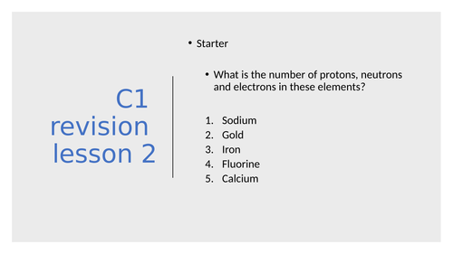 New AQA C2 revision atomic structure