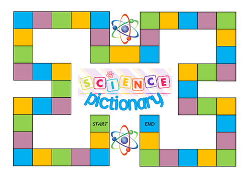 KS3 Science PICTIONARY Boardgame and Question Cards