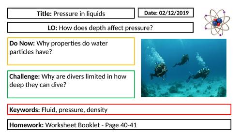 Physics - Pressure in liquids