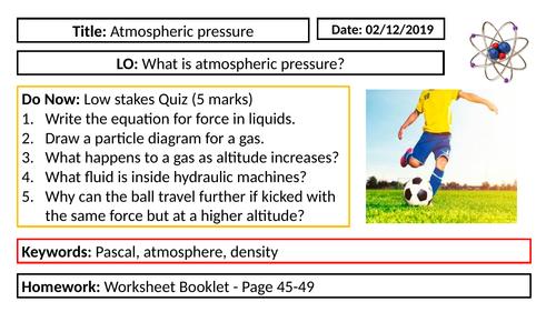 Physics - Atmospheric pressure