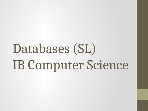 Databases slides (112 slides in total)