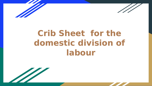 Domestic division of labour: AQA A level sociology