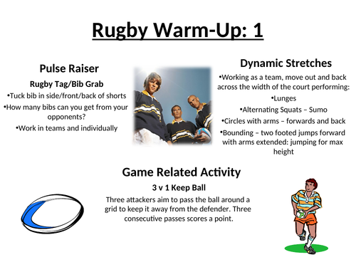 Rugby Warm Up Cards